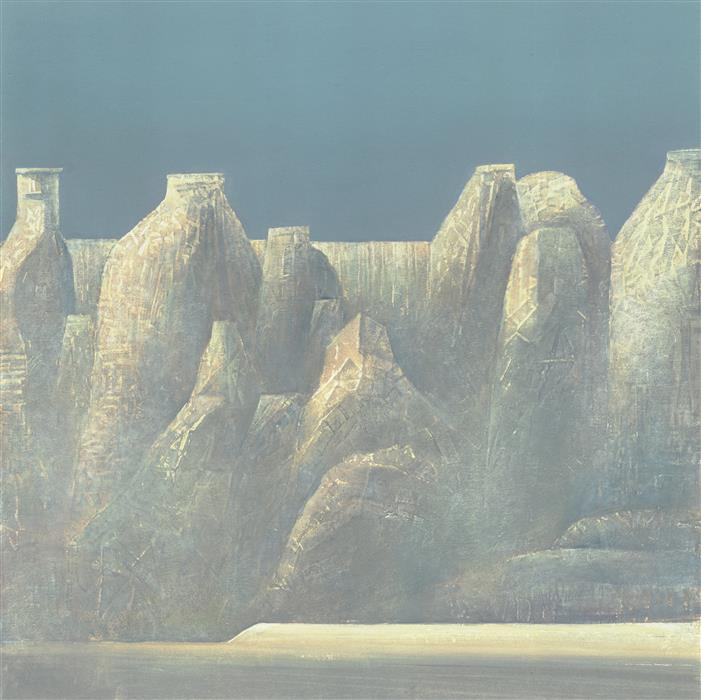 Discover Original Art by Shao Yuan Zhang | Trulli Canyon printmaking | Art for Sale Online at UGallery