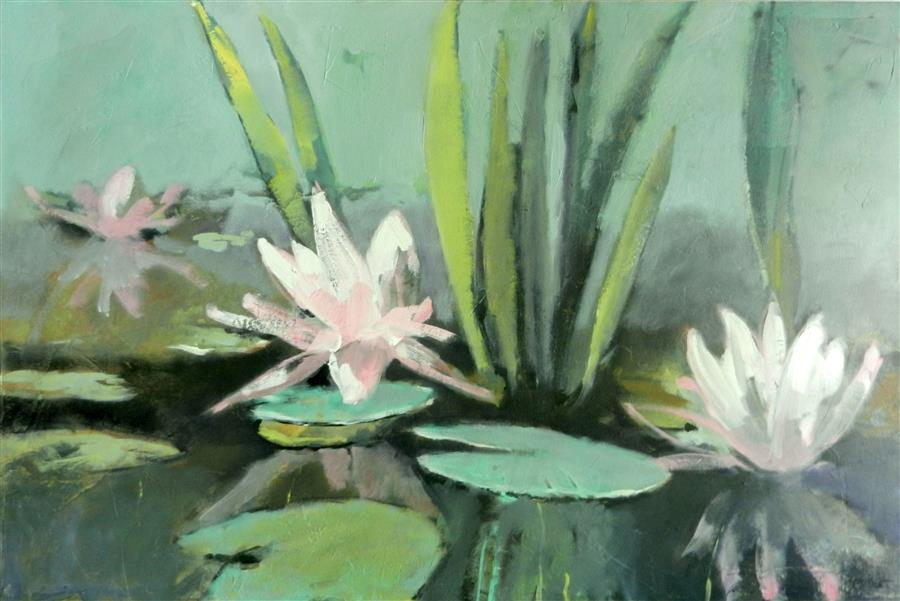 Discover Original Art by Mary Pratt | Pond oil painting | Art for Sale Online at UGallery