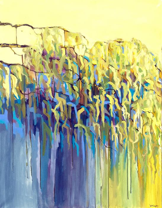 Discover Original Art by Bryan Jernigan | Bend Like the Willow acrylic painting | Art for Sale Online at UGallery