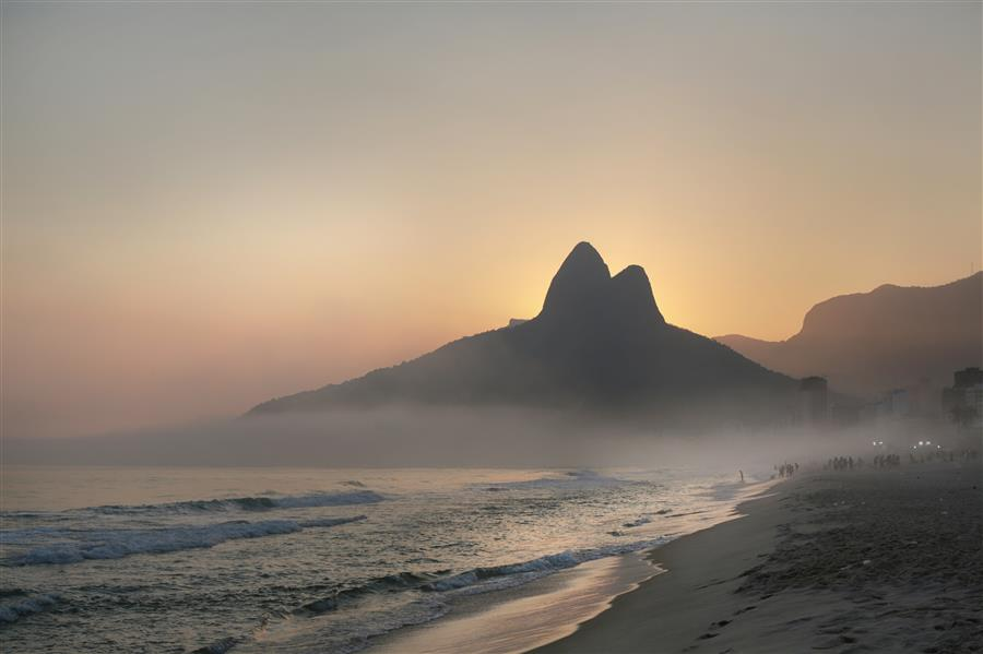 Original art for sale at UGallery.com | Ipanema Sunset by MARIA PLOTNIKOVA | $145 |  | ' h x ' w | \art\photography-Ipanema-Sunset