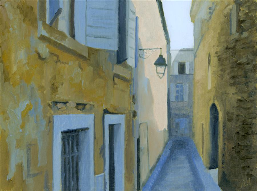 Discover Original Art by Nancy Herman | Rue Frederic, Arles oil painting | Art for Sale Online at UGallery