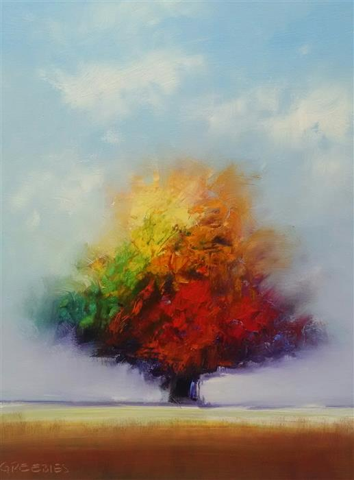 Discover Original Art by George Peebles | Tree of Colors oil painting | Art for Sale Online at UGallery