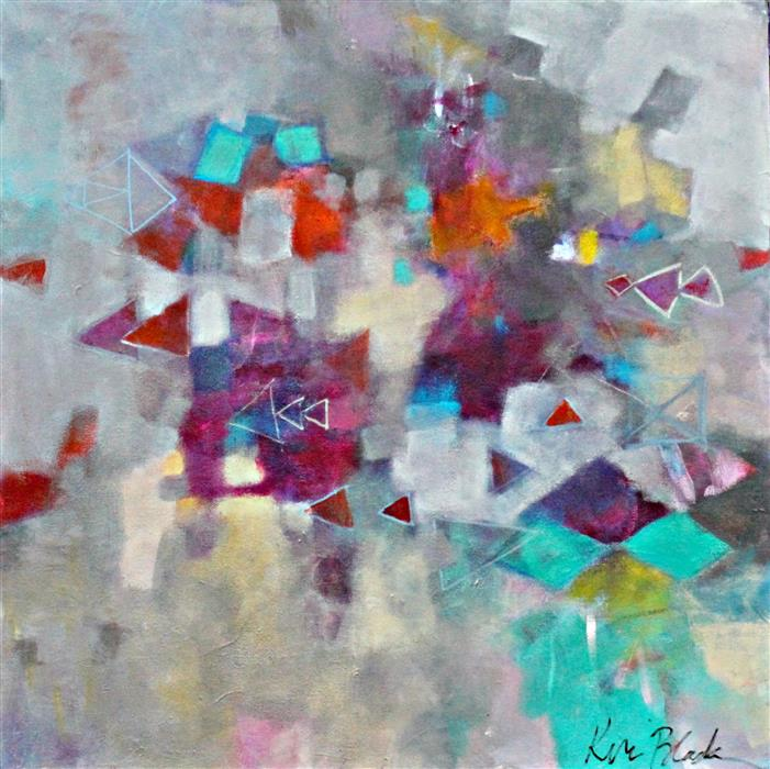 Discover Original Art by Kerri  Blackman | Geometry Class acrylic painting | Art for Sale Online at UGallery