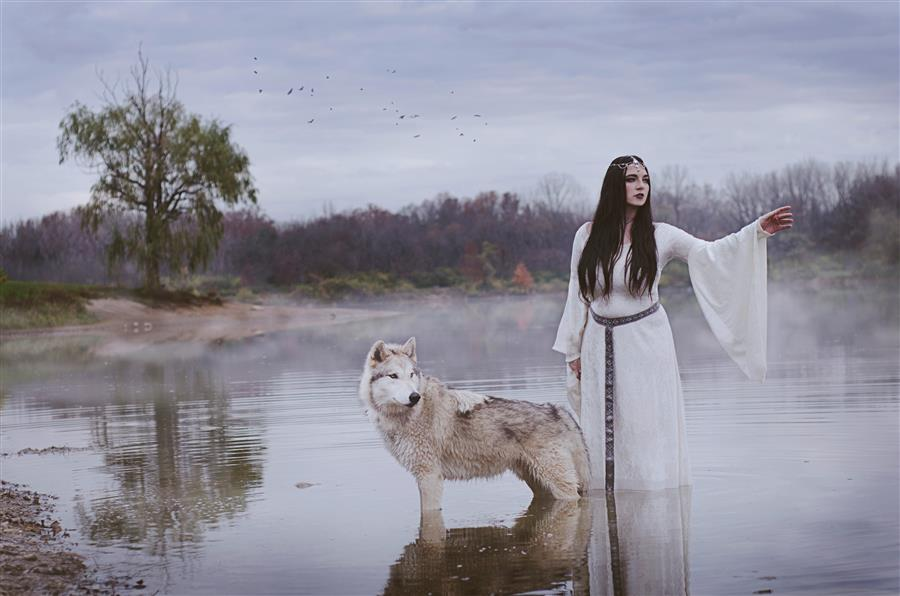 Original art for sale at UGallery.com | Lady of the Lake by RACHEL LAUREN | $170 |  | ' h x ' w | \art\photography-Lady-of-the-Lake