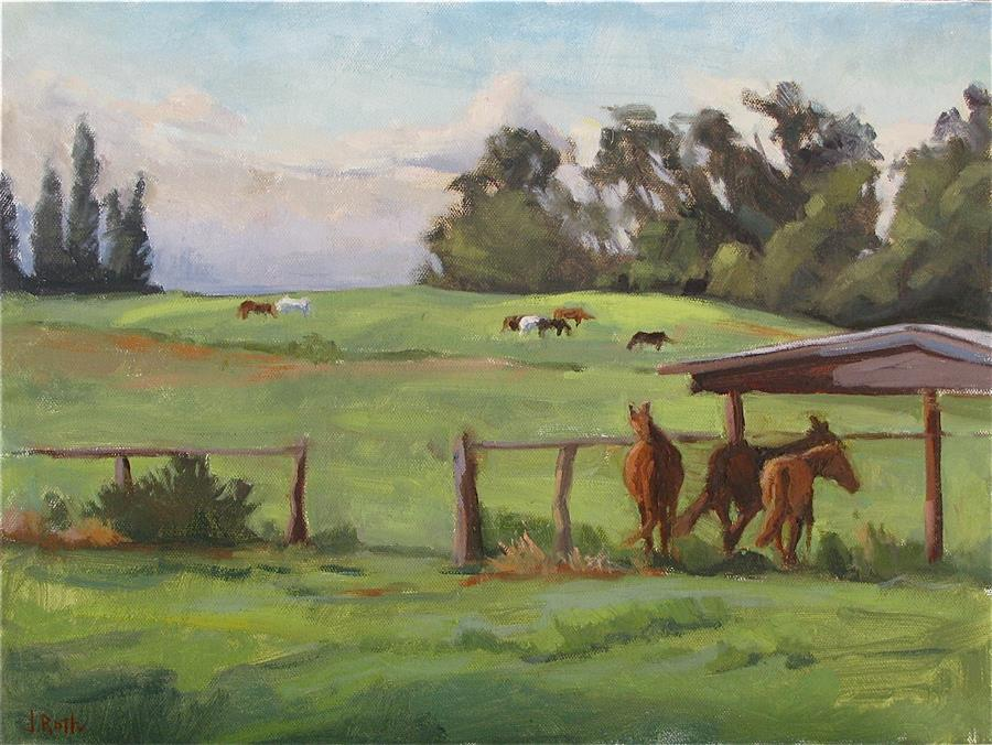 Discover Original Art by Jamie Roth | Horse Heaven oil painting | Art for Sale Online at UGallery