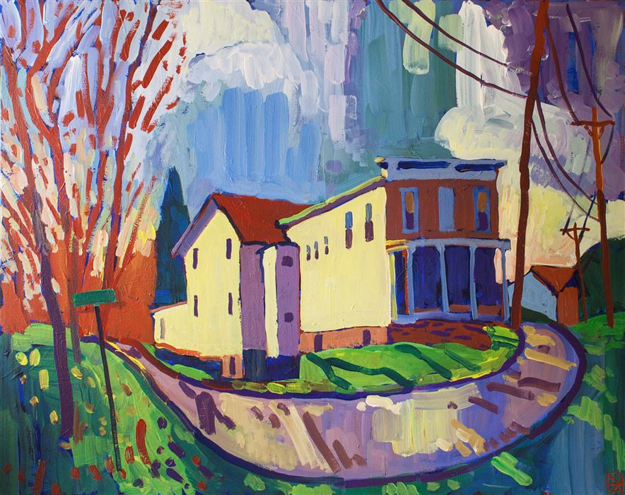 Discover Original Art by Robert Hofherr | Hilldale acrylic painting | Art for Sale Online at UGallery