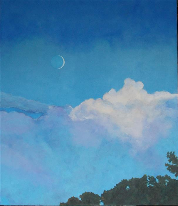 Discover Original Art by Benjamin  Thomas | Lovely Luna acrylic painting | Art for Sale Online at UGallery
