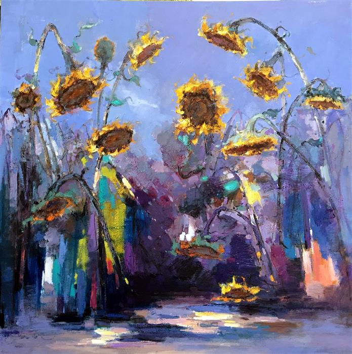Discover Original Art by Jingshen You | Sunflowers 7 oil painting | Art for Sale Online at UGallery