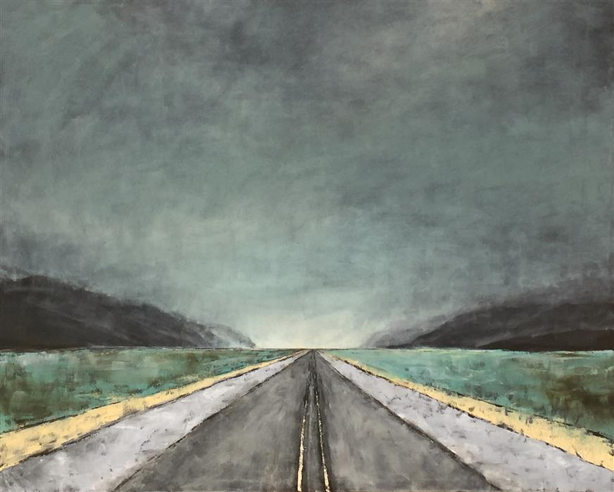 Discover Original Art by Mandy Main | Vanishing Point VII oil painting | Art for Sale Online at UGallery