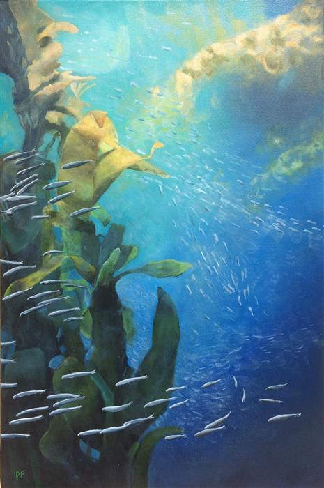 Discover Original Art by Anastasia Pimentel | Kelp Forest acrylic painting | Art for Sale Online at UGallery