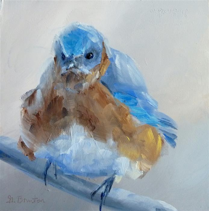Discover Original Art by Gary Bruton | Grumpy Bird oil painting | Art for Sale Online at UGallery