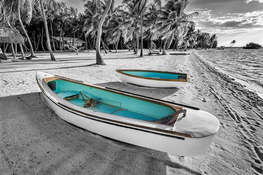 Original art for sale at UGallery.com | Beach Tenders by MIKE RING | $195 |  | ' h x ' w | \art\photography-Beach-Tenders