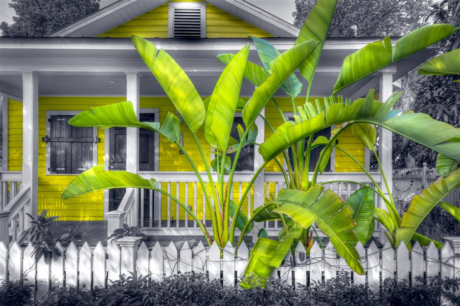 Original art for sale at UGallery.com | Caribbean Cottage by MIKE RING | $195 |  | ' h x ' w | \art\photography-Caribbean-Cottage