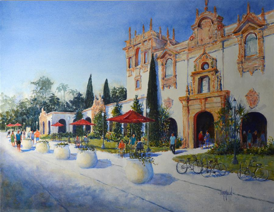 Discover Original Art by Judy Mudd | Balboa Park, San Diego  watercolor painting | Art for Sale Online at UGallery