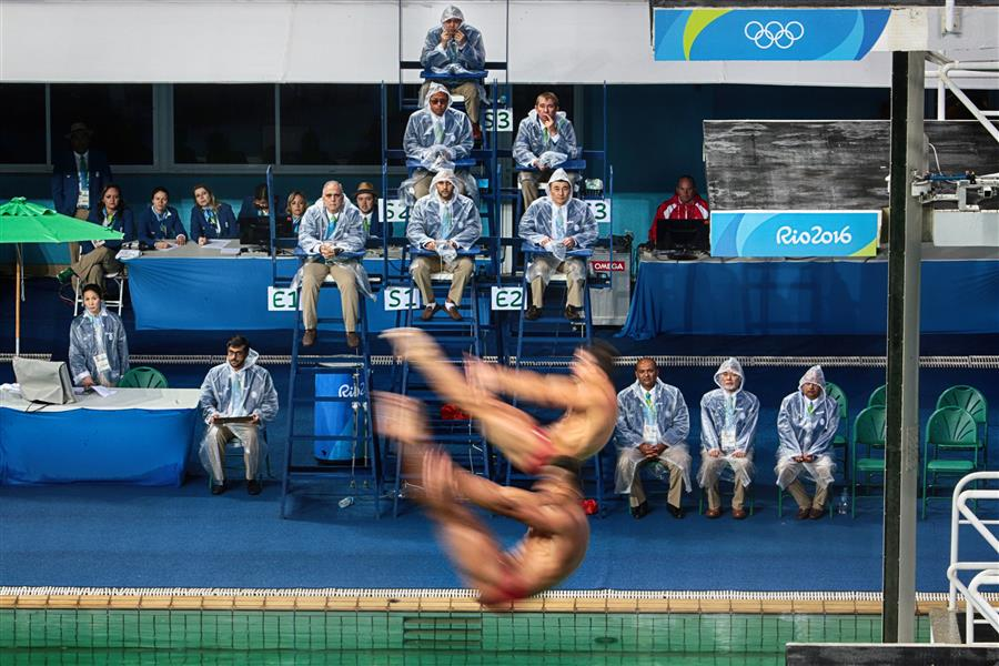 Original art for sale at UGallery.com | Olympic Diving by MARIA PLOTNIKOVA | $145 |  | ' h x ' w | \art\photography-Olympic-Diving