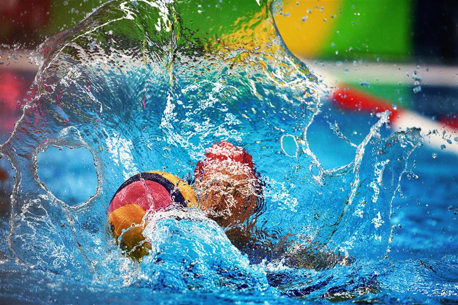 Original art for sale at UGallery.com | Women's Water Polo by MARIA PLOTNIKOVA | $145 |  | ' h x ' w | \art\photography-Women-s-Water-Polo