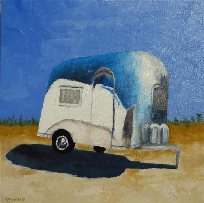 Discover Original Art by Mitchell Freifeld | Air Stream 6 oil painting | Art for Sale Online at UGallery