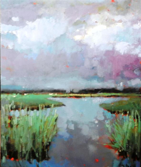 Discover Original Art by Mary Pratt | Marsh in Summer oil painting | Art for Sale Online at UGallery