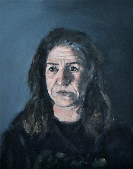 Discover Original Art by Dimitris Angelopoulos | Weary Mother oil painting | Art for Sale Online at UGallery