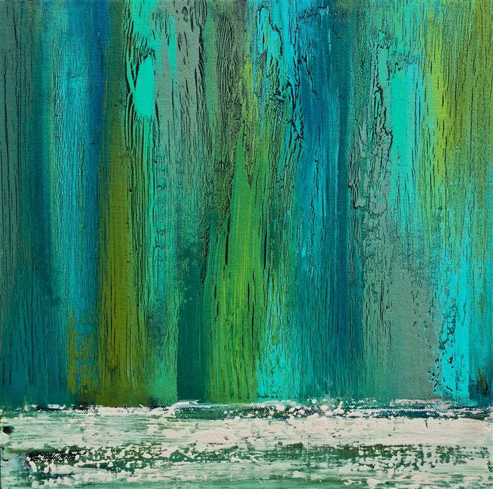 Discover Original Art by Alicia Dunn | Rainwater acrylic painting | Art for Sale Online at UGallery