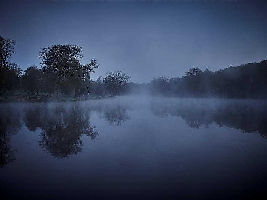 Original art for sale at UGallery.com | Morning Lake by KATHLEEN FINLAY | $355 |  | ' h x ' w | \art\photography-Morning-Lake