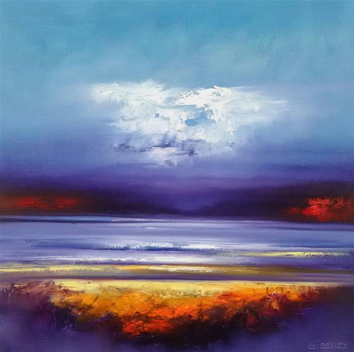 Discover Original Art by George Peebles | Dusk oil painting | Art for Sale Online at UGallery