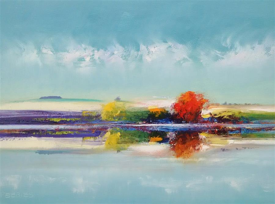 Discover Original Art by George Peebles | The Reflection oil painting | Art for Sale Online at UGallery