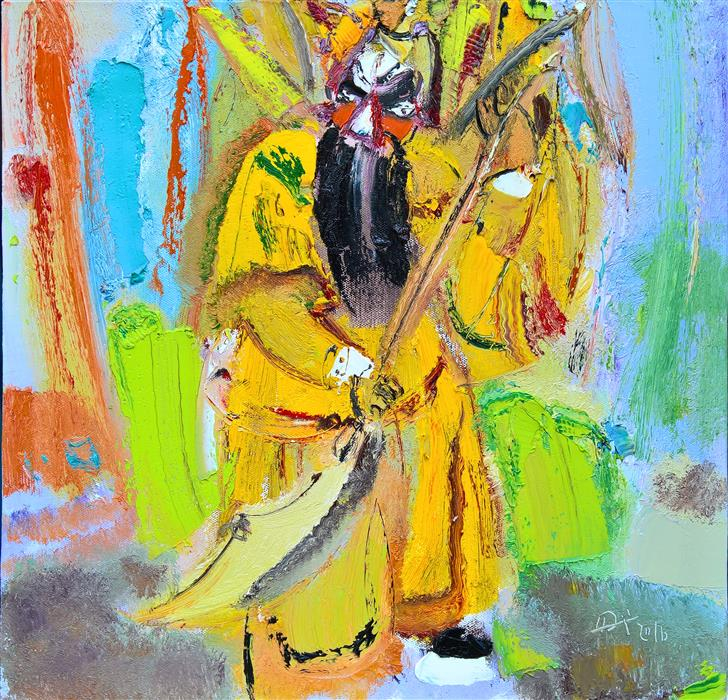 Discover Original Art by Yi Tian | Role of Beijing Opera 3 oil painting | Art for Sale Online at UGallery