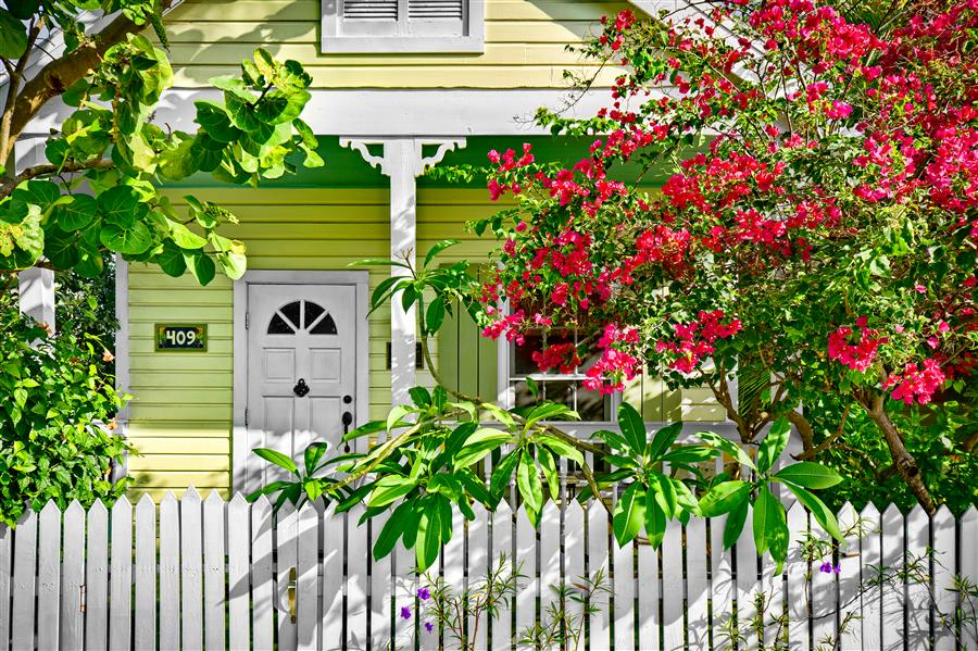 Original art for sale at UGallery.com | Key Lime Cottage by MIKE RING | $195 |  | ' h x ' w | \art\photography-Key-Lime-Cottage