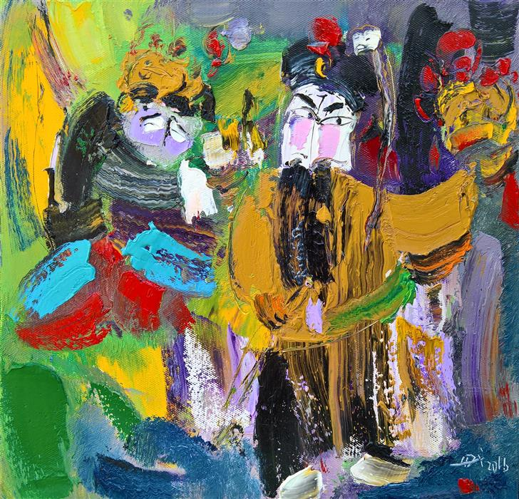 Discover Original Art by Yi Tian | Role of Beijing Opera 4 oil painting | Art for Sale Online at UGallery