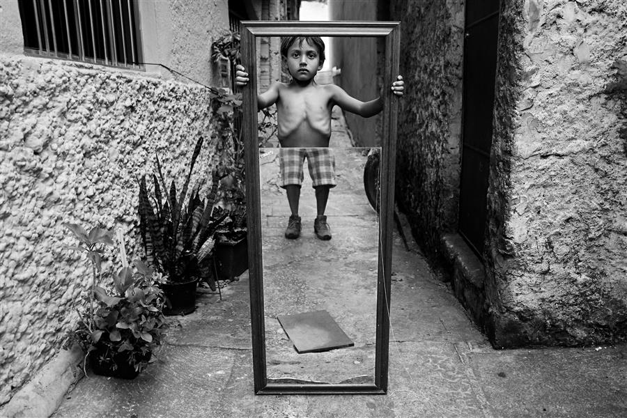 Discover Original Art by Weslei Barba | Boy With Mirror photography | Art for Sale Online at UGallery