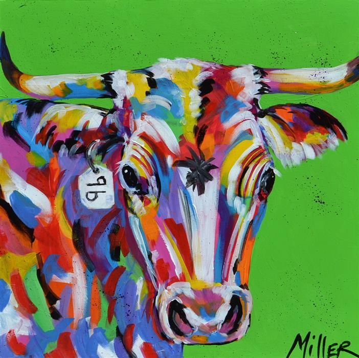 Discover Original Art by Tracy Miller | Ole Number 96 acrylic painting | Art for Sale Online at UGallery