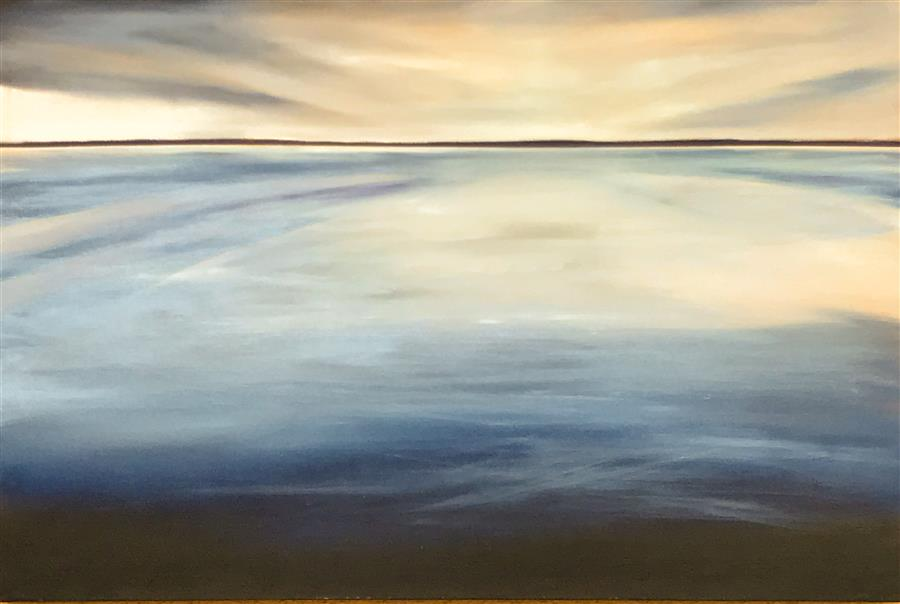 Discover Original Art by Mandy Main | Horizon V oil painting | Art for Sale Online at UGallery
