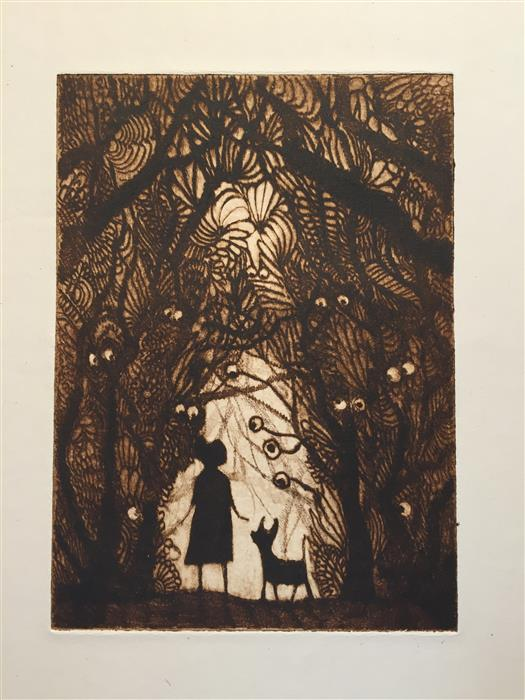 Discover Original Art by Doug Lawler | Forest Eyes printmaking | Art for Sale Online at UGallery