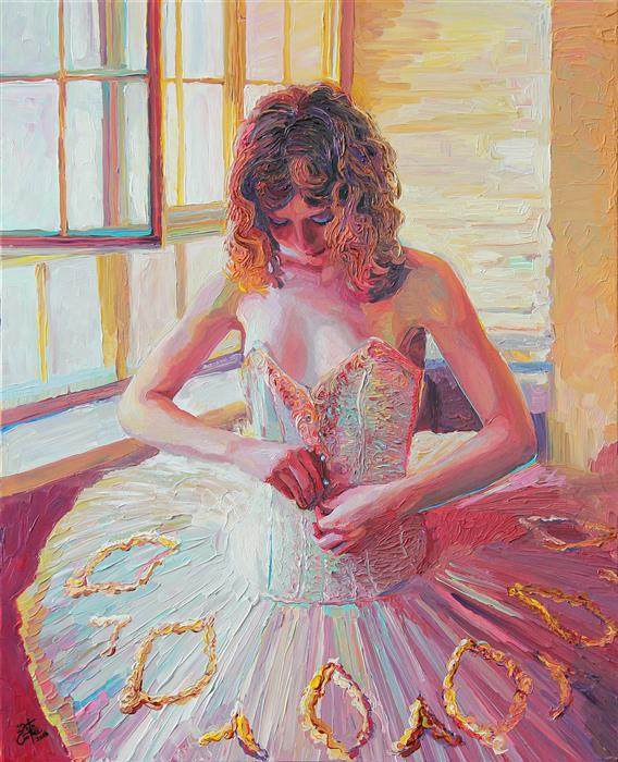 Discover Original Art by Seth Couture | Ulanova's Tutu acrylic painting | Art for Sale Online at UGallery
