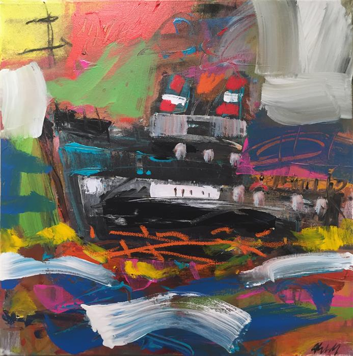 Discover Original Art by Allen Wittert | Ship acrylic painting | Art for Sale Online at UGallery