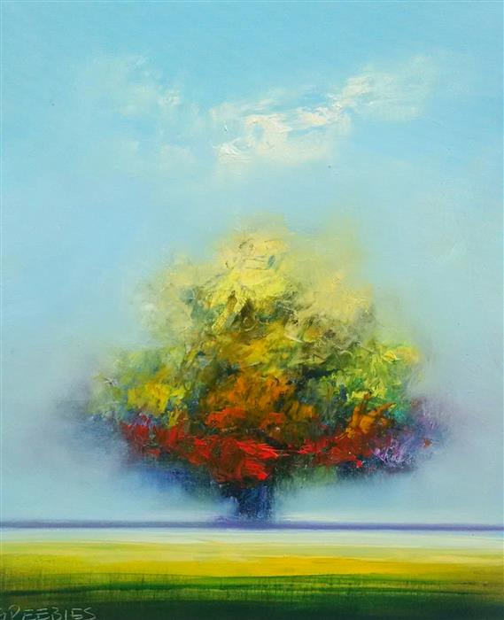 Discover Original Art by George Peebles | Tree #1 oil painting | Art for Sale Online at UGallery