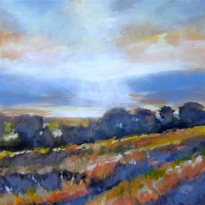 Discover Original Art by Kip Decker | Ridge View acrylic painting | Art for Sale Online at UGallery