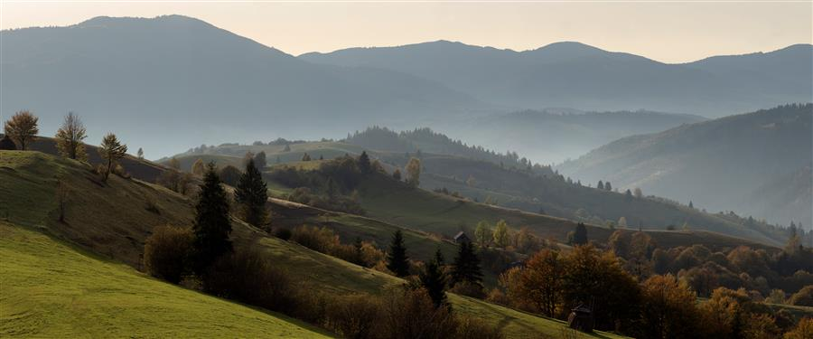 Original art for sale at UGallery.com | Autumn Afternoon in a Mountain Meadow by TARAS LESIV | $460 |  | ' h x ' w | \art\photography-Autumn-Afternoon-in-a-Mountain-Meadow