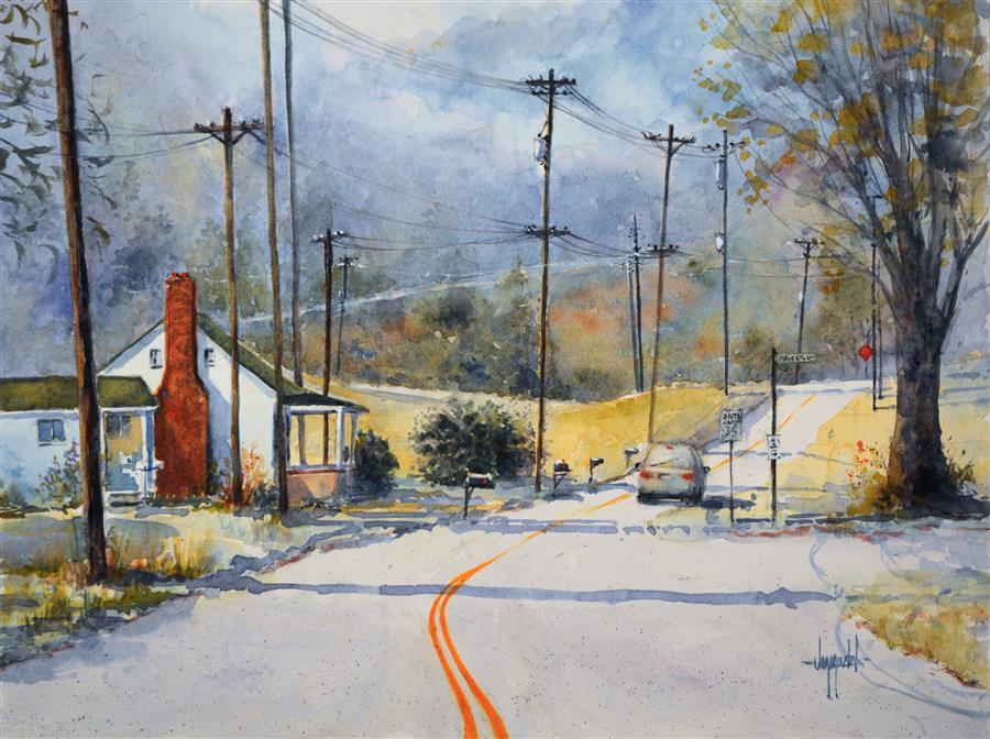 Discover Original Art by Judy Mudd | Wired watercolor painting | Art for Sale Online at UGallery