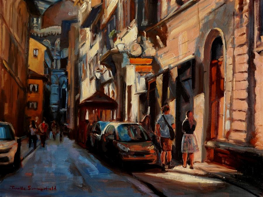 Discover Original Art by Jonelle Summerfield | Alley Near the Duomo oil painting | Art for Sale Online at UGallery