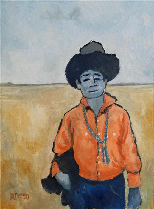 Discover Original Art by Robert  Holewinski | The Orange Shirt oil painting | Art for Sale Online at UGallery