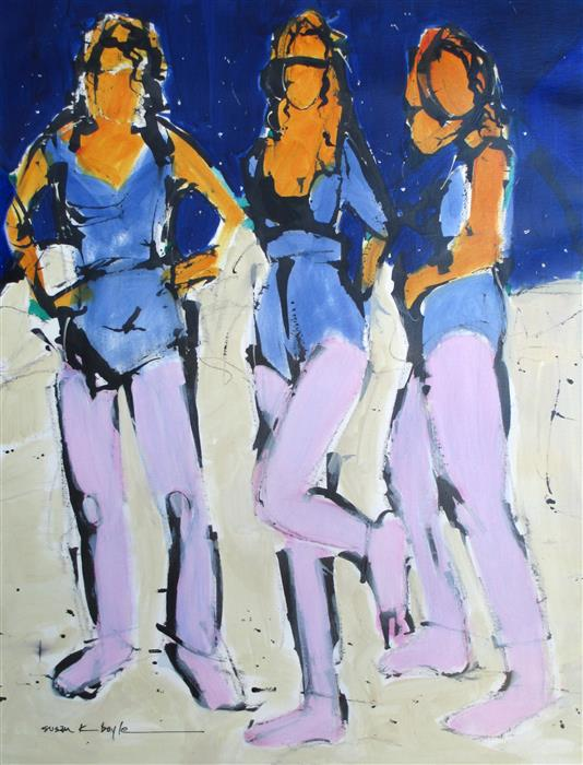 Discover Original Art by Susan K Boyle | Trio acrylic painting | Art for Sale Online at UGallery