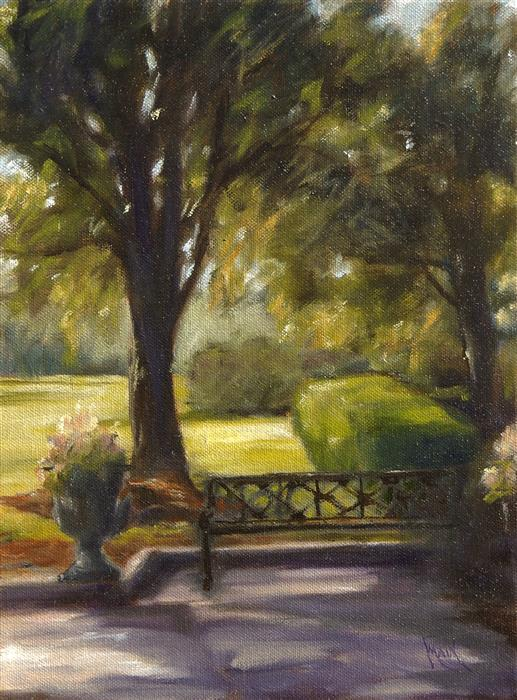 Discover Original Art by Mandy Main | In the Garden oil painting | Art for Sale Online at UGallery