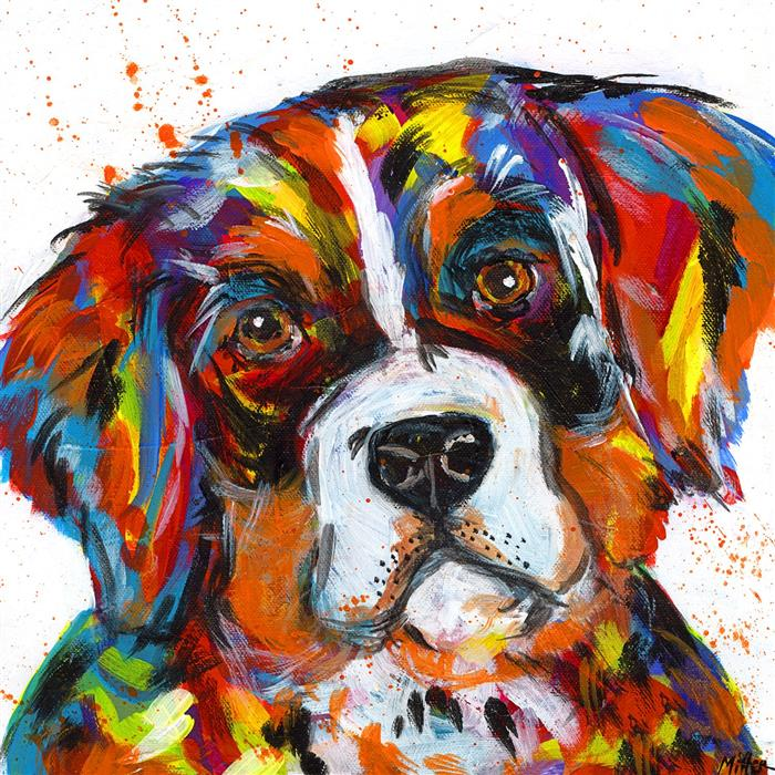 Discover Original Art by Tracy Miller | Bernese Mountain Dog acrylic painting | Art for Sale Online at UGallery
