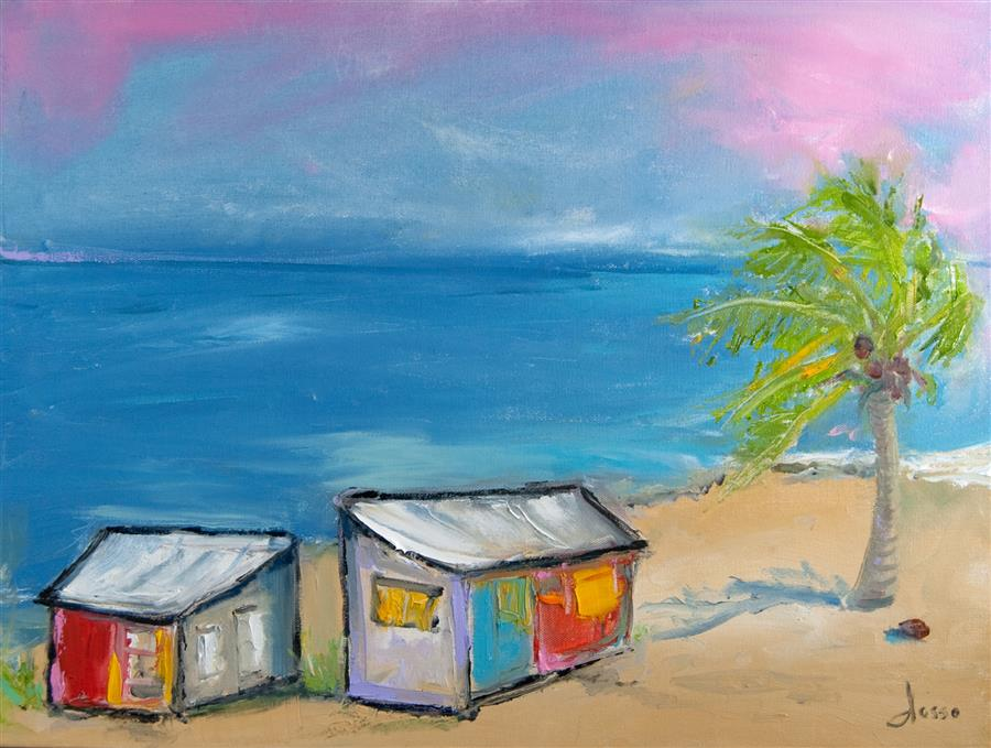 Discover Original Art by Anne Dosso-Powell | Love Shack 4 You oil painting | Art for Sale Online at UGallery