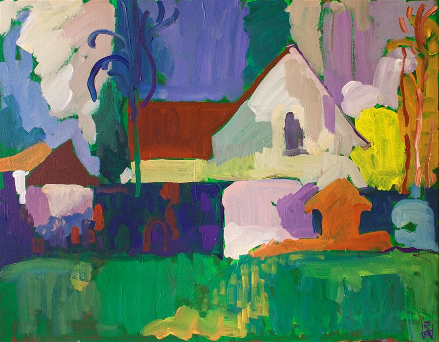 Discover Original Art by Robert Hofherr | Study, Churchyard acrylic painting | Art for Sale Online at UGallery
