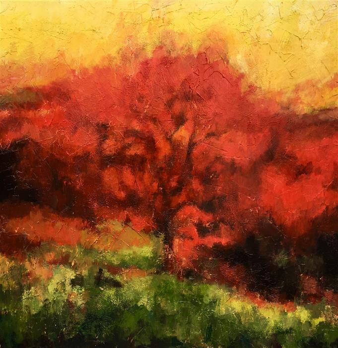 Discover Original Art by Nava Lundy | And the Tree Was Happy acrylic painting | Art for Sale Online at UGallery