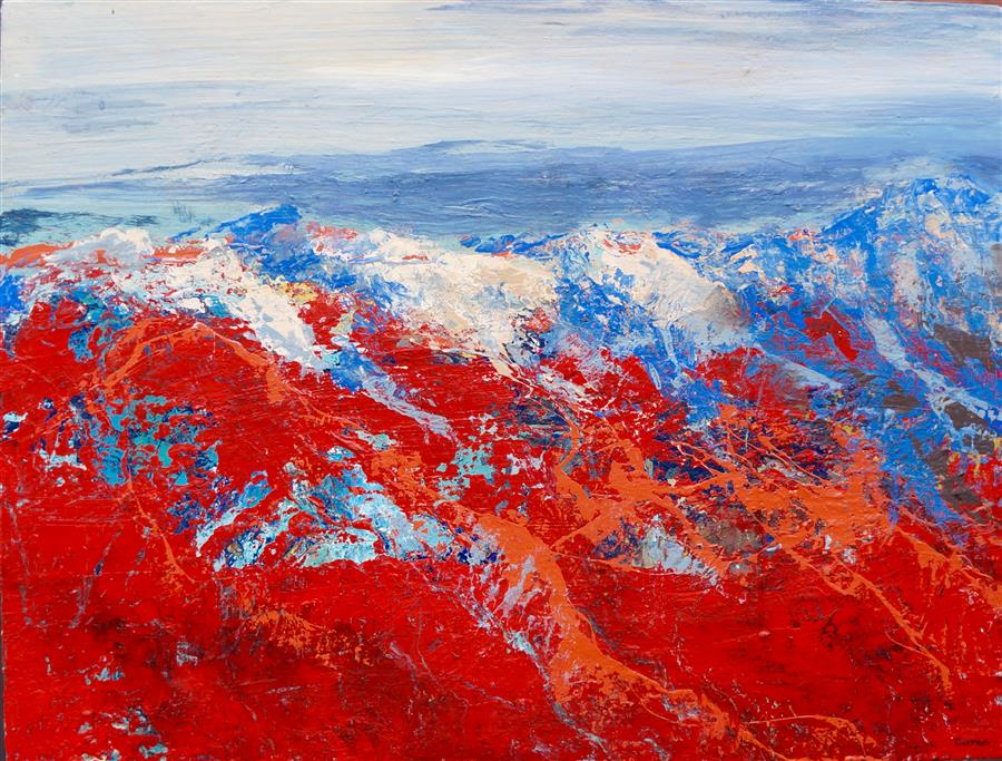 Discover Original Art by Sidonie Caron | Red Rocks acrylic painting | Art for Sale Online at UGallery