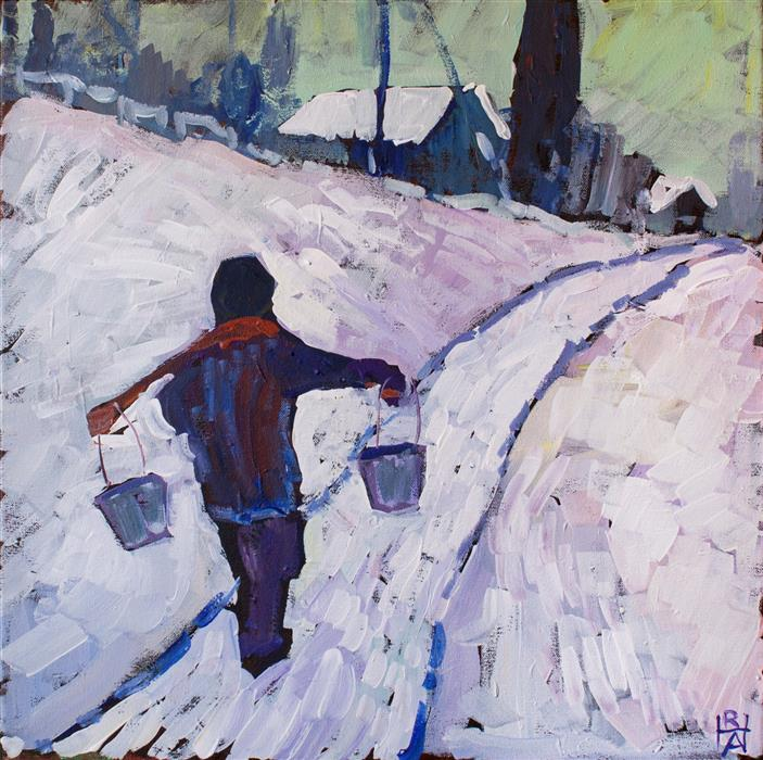 Discover Original Art by Robert Hofherr | The Water Carrier acrylic painting | Art for Sale Online at UGallery